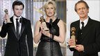Chris Colfer, Jane Lynch and Steve Buscemi at the Golden Globes