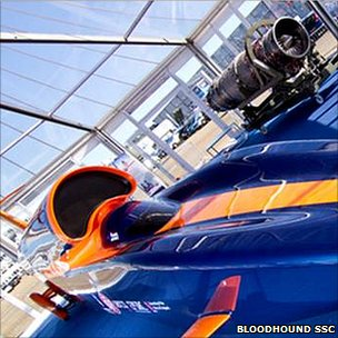Bloodhound model car (Bloodhound SSC)