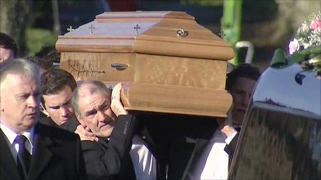 Mickey Harte carrying coffin