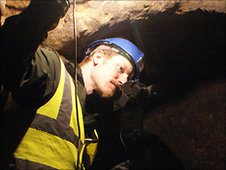 Dr David Walker explores a Nottingham cave