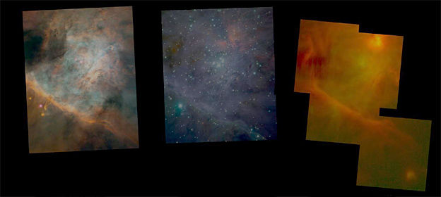Nebula at different wavelengths