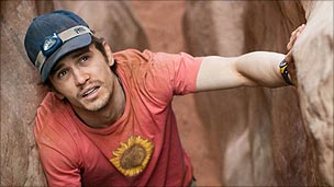 Franco plays real-life climber Aron Ralston in Danny Boyle's film