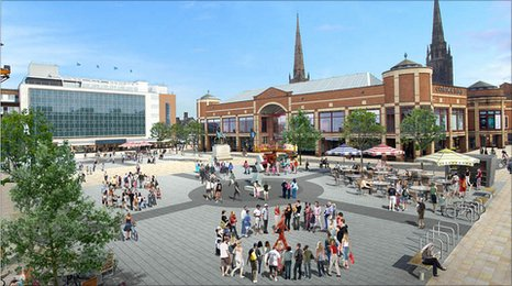 Artists impression of Broadgate proposals