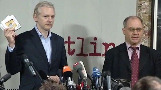 Julian Assange and Rudolf Elmer