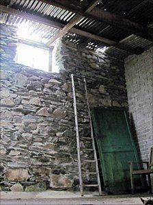 Interior of Merz Barn in Elderwater, Cumbria