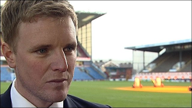 New Burnley boss Eddie Howe