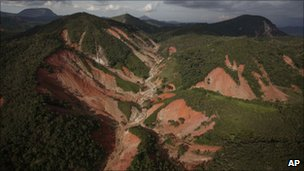 Slopes covered by mud are seen after landslide in Nova Friburgo (17 January 2011)