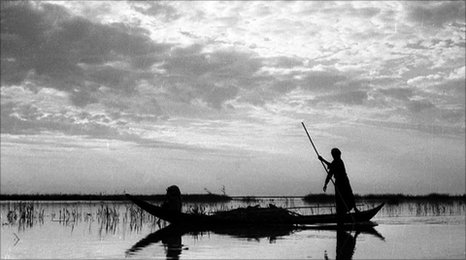 Marsh Arab fisherman