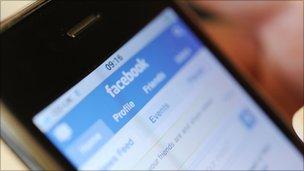 iPhone running Facebook