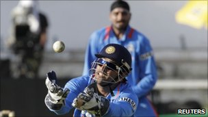 Indian wicket keeper MS Dhoni