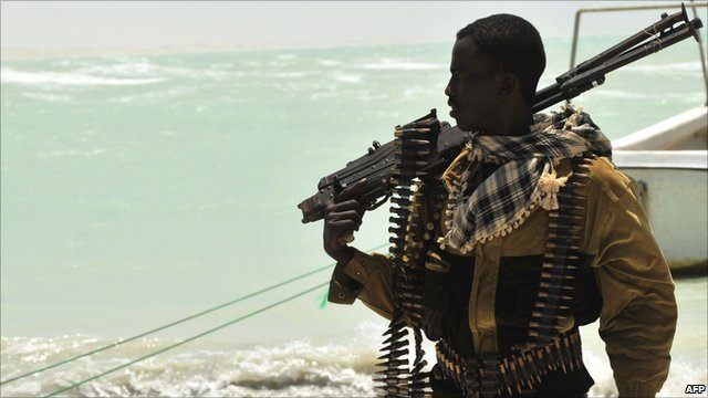 Pirate on the Somali coast