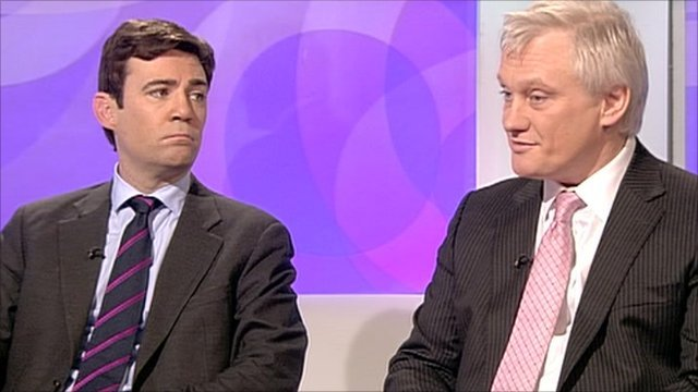 Andy Burnham and Graham Stuart