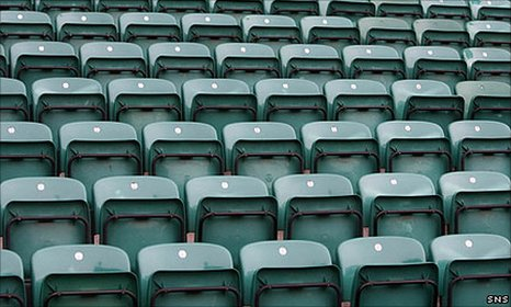 Empty seats at Easter Road