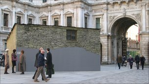 Merz Barn installation at the Royal Academy