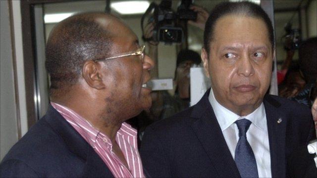 Jean-Claude Duvalier (right)