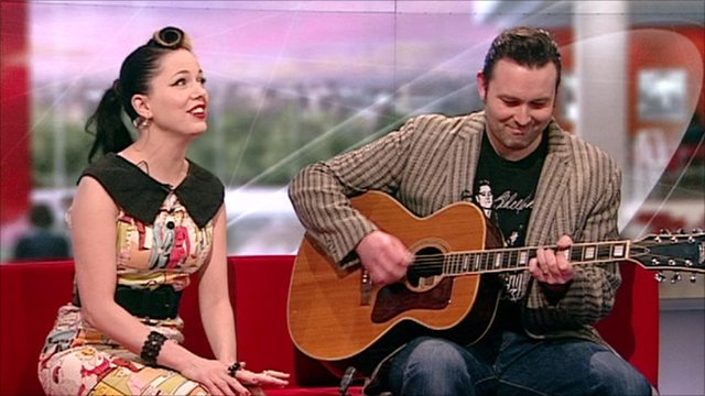 Imelda May and her husband Darrel Higham