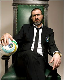 Eric Cantona in a publicity shot for the New York Cosmos
