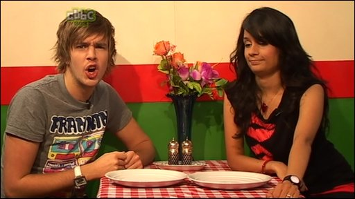 Sonali on a date with Iain from CBBC