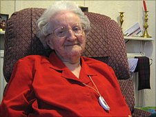 Florence Wortly-Waters, 102