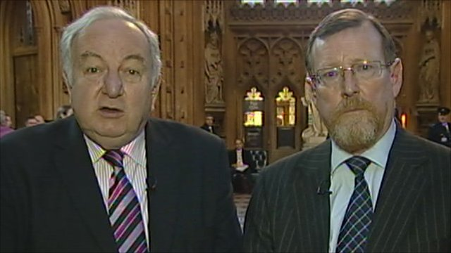 Lord Foulkes and Lord Trimble