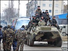 Russian federal forces in Nalchik, 2005