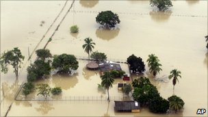 Flooding in north-west Colombia - photo from December 2010