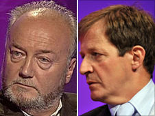 George Galloway and Alastair Campbell