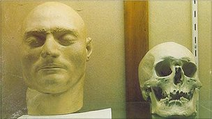 Ned Kelly's death mask and mystery skull