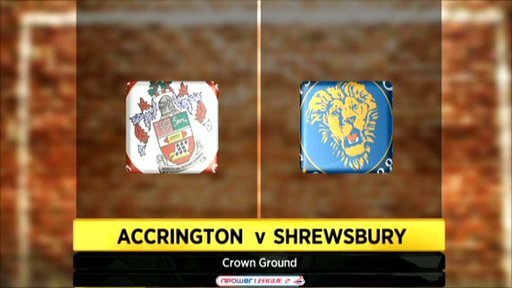 Accrington 1-3 Shrewsbury