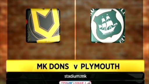 MK Dons 1-3 Plymouth