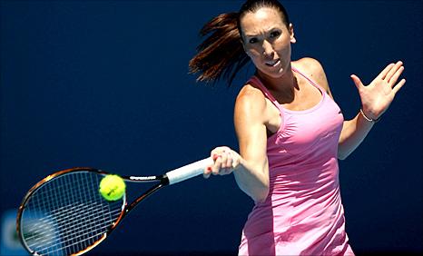 Jelena Jankovic in action