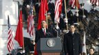 Chinese President Hu Jintao and US President Barack Obama outside the White House