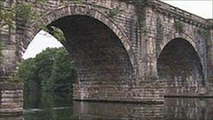 The Lune Aqueduct in Lancaster