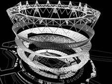 Architect's plan of the stadium