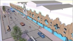 Artist's impression of how Roath Lock will look when completed
