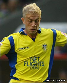 Leeds striker Mike Grella
