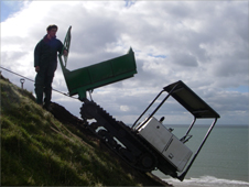 Workers on Dinas Dinlle
