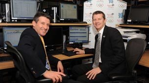 Seb Coe and Steve Cram