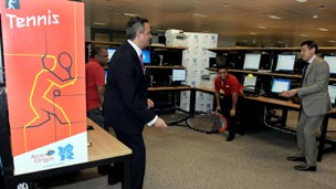 CIO of LOCOG and chairman 'play' tennis in the virtual lab