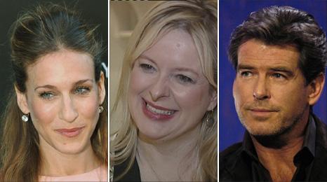 Sarah Jessica Parker, Allison Pearson, Pierce Brosnan