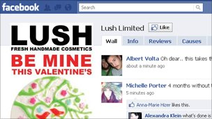 Lush on Facebook, Lush