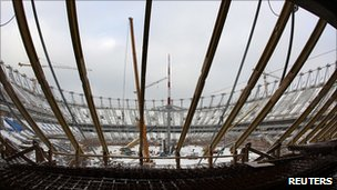 Warsaw's new National Stadium under construction