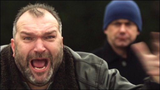 A shouting dad (played by ex-footballer Neil Ruddock) from the Respect FC campaign ad