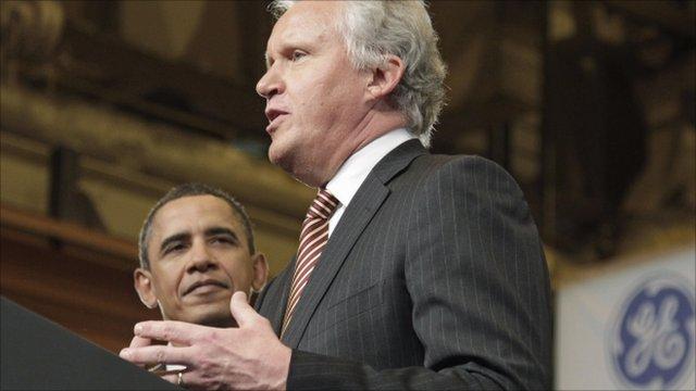 President Barack Obama and Jeffrey Immelt