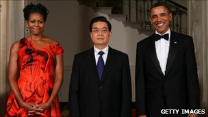 Michelle Obama, Hu Jintao, Barack Obama