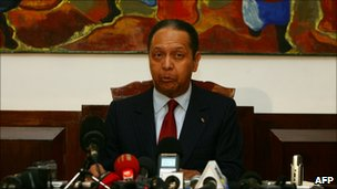 Mr Duvalier said he wanted to show his solidarity by returning to Haiti