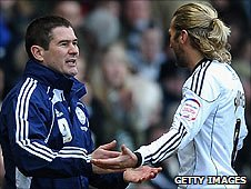 Nigel Clough and Robbie Savage