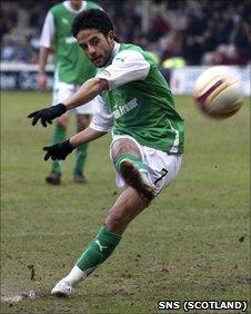Hibernian midfielder Merouane Zemmama