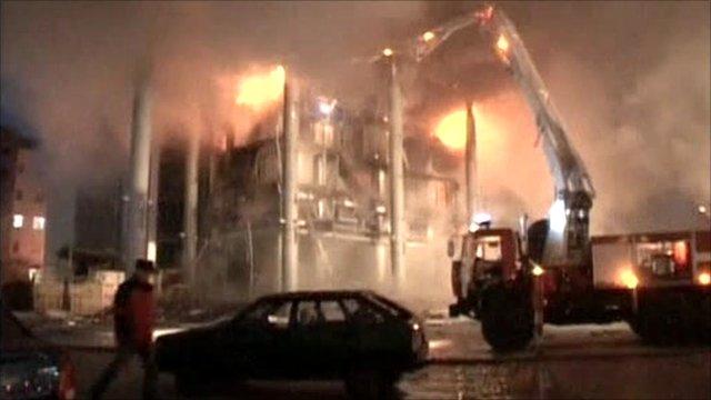 Russian shopping centre fire