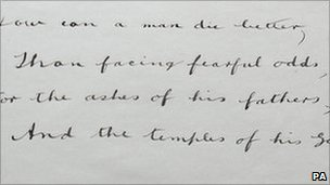 A poem written into the book by Private Edward Wolstencroft